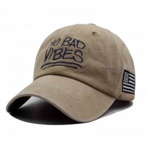 Casquette no bad vibes beige