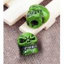 Bouchon de valve crazy skull vert