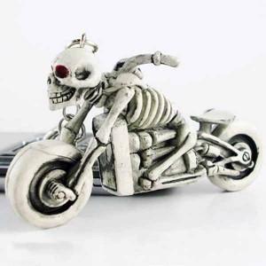 Porte clés skull biker