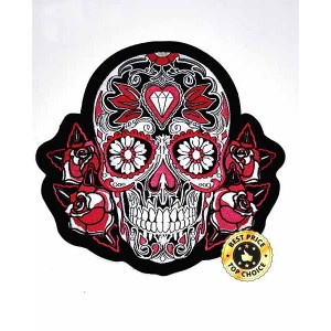 Patch, skull tatoo rose, grand model