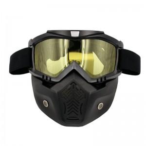 Face masque anti poussières kit complet avec lunette