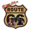T shirt route 66 hot rod