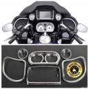 Façades chromé pour instrumentations Harley FLH