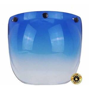 Ecran bulle couleur bleu dégradé pour casque jet.