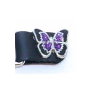 Chaine de gilet papillon violet