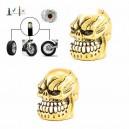 Bouchon de valve crazy skull gold