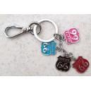 Porte clés route 66 quatre couleurs