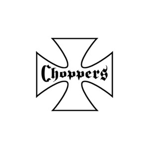 T shirt white choppers
