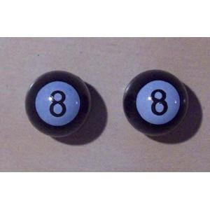 "Bouchon de valve ""BILLARD N°8"" Noir."