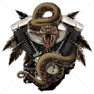 T shirt rattlesnake
