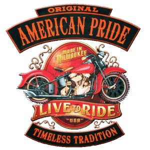 T shirt american pride live to ride