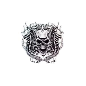 T shirt motor skull