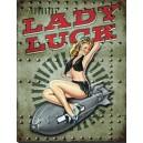 Plaque métal décorative lady luck