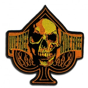 Patch, orange skull