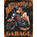 Plaque métal décorative motorhead