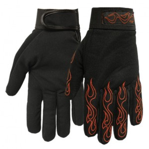 Gants moto flaming stripping Taille XXL