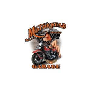 T shirt motorhead garage.