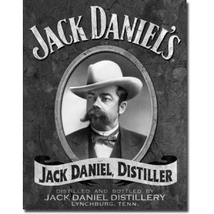 Plaque metal decorative Jack Daniel, distiller