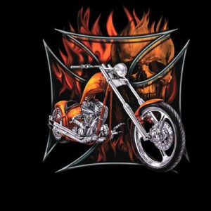 T shirt orange chopper