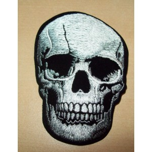 Patch, skull silver