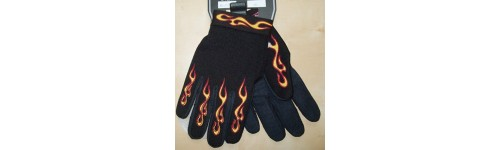 Gants moto flaming.