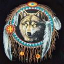 T shirt dreamcatcher wolf.