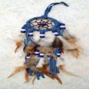 Dreamcatcher tressé bleu.