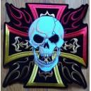 Patch, croix de malte en couleur.