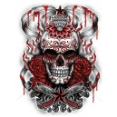Sweat demonized skull