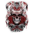 sweat capuche zippé demonized skull