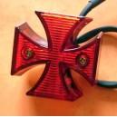 Feux arrière custom croix de malte à leds
