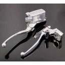 Kit frein maître cylindre et embrayage par câble, chrome