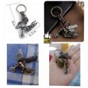 Porte clés skull and bike vintage