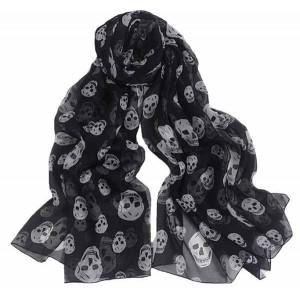 foulard noir têtes de mort