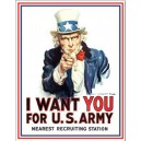 Plaque métal décorative i want you for us army