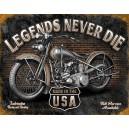 Plaque métal décorative legend never die