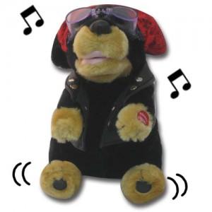 Singing Biker Dog.